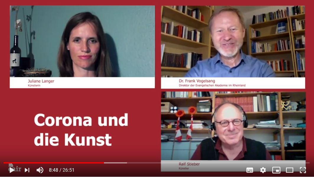 Akademiegespräch mit Frank Vogelsang über Kunst und Corona